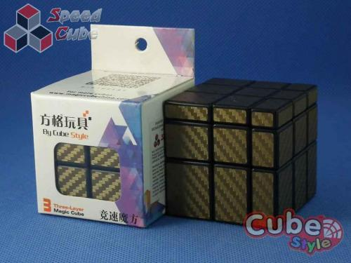 Cube Style Mirror 3x3x3 Black Body - Gold stickers