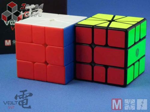 X-Man Volt Square-1 V2 Fully Magnetic Stickerless Black