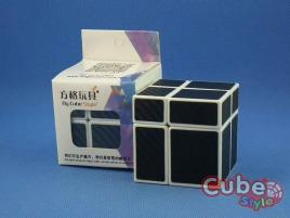 Cube Style Mirr-Two Mirror 2x2 White Body Black Carbon