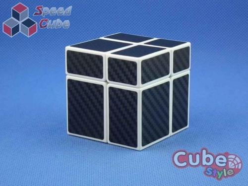 Cube Style Mirr-Two Mirror 2x2 White Body Black Carbon