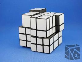 PROLISH Mirror Eccentric Cube 4x4x4 White Stickers