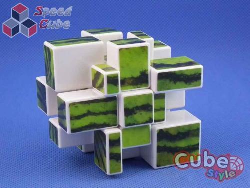Cube Style Mirror 3x3x3 White Watermelon