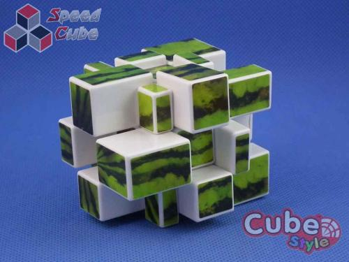 Cube Style Mirror 3x3x3 White Watermelon