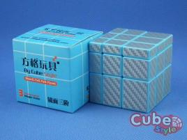 Cube Style Mirror 3x3x3 Blue Body - Silver CarBon