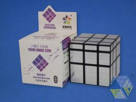 YuXin Black Kirin Mirror Cube Silver