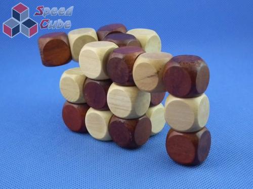 Drewniana kostka 3x3x3 wąż układanka