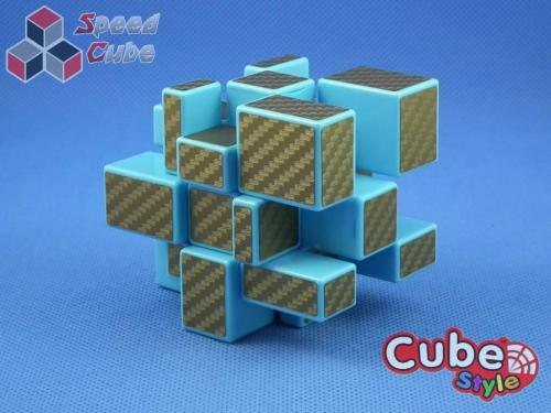 Cube Style Mirror 3x3x3 Blue Body - Golden CarBon