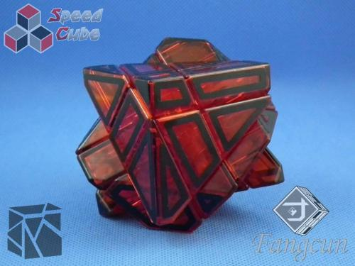 FangCun Ghost Cube Red Transp. Body Black Hollow Stick.