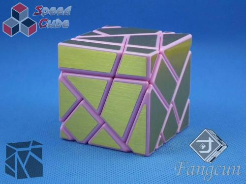 FangCun Ghost Cube Pink Body Gold Stickers