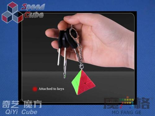 QiYi Pyraminx Cube Brelok Stickerless