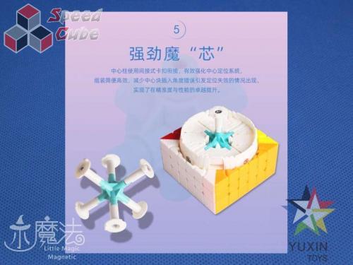 YuXin Little Magic 6x6x6 Magnetic Kolorowa