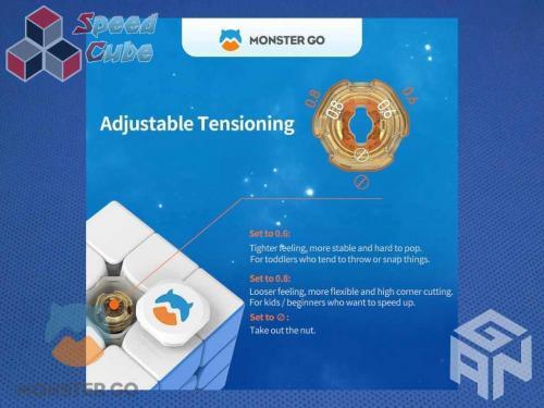 GAN Monster Go UT 3x3x3 Kolorowa