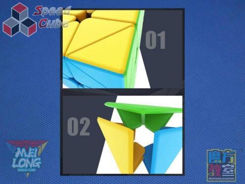 MoYu MoFang JiaoShi Meilong Pyraminx Kolorowa