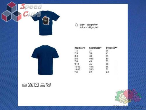 Koszulka z nadrukiem 5 Rozm. 128/7-8 lat Granatowa