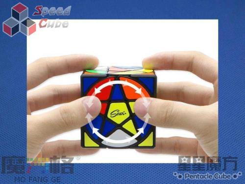 QiYi MoFangGe Pentacle Cube Czarna