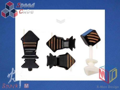 MoFangGe X-Man Design 7x7x7 Spark Czarna