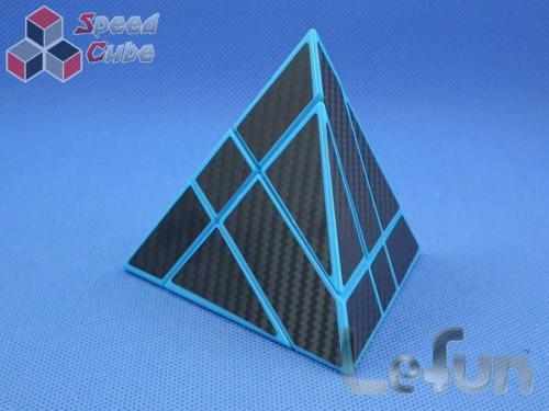LeFun Pyraminx Binary Star Carbon Blue