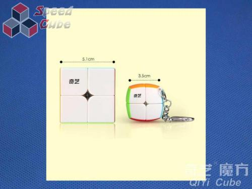 QiYi 2x2x2 Cube Brelok Stickerless