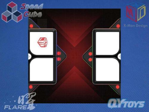 X-Man Flare 2x2x2 Magnetic Black