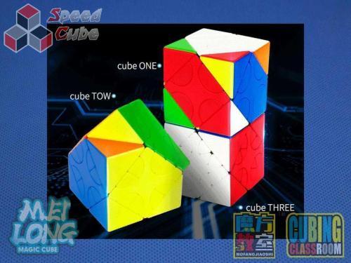 MoFang JiaoShi MeiLong HunYuan Oblique Turning Cube V1 Stickerless
