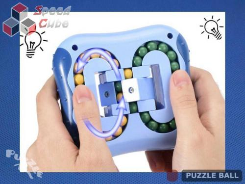 Puzzle Ball Rotating Bean Cube Double Green