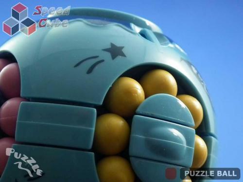 Puzzle Ball Rotating Bean Cube Single Green