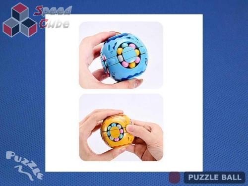 Puzzle Ball Rotating Bean Cube Single Yellow