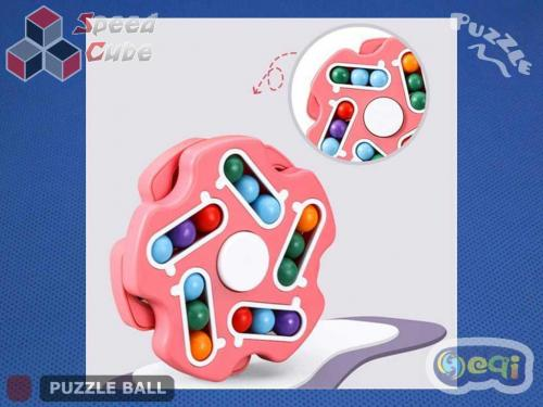 Magic Spinner Cube Bean Double Pink