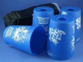 Kubki YongJun Stacking Cups Graffiti Niebieskie