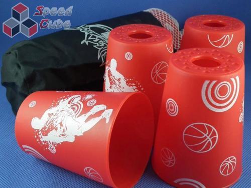 YJ Stacking Cups Czerwone