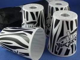Kubki YongJun Stacking Cups Graffiti Białe