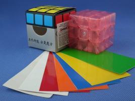 FangShi GuangYing 3x3x3 Różowa Transp.