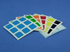 Naklejki 3x3x3 Halczuk Stickers AoLong Mini Half Bright