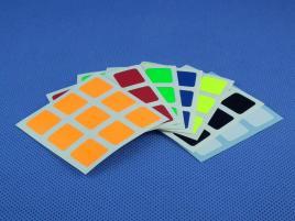 Naklejki 3x3x3 Halczuk Stickers Fluo Dark Blue 57