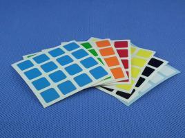 Naklejki 4x4x4 Halczuk Stickers MoYu Half Bright