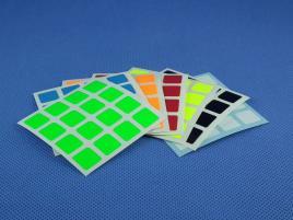 Naklejki 4x4x4 Halczuk Stickers MoYu Fluo