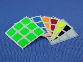 Naklejki 3x3x3 Halczuk Stickers AoLong Fluo