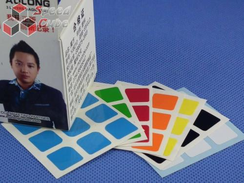 Naklejki Halczuk Stickers AoLong Half Bright 3x3x3