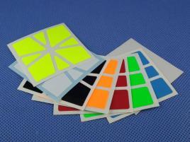 Naklejki Square-1 SQ-1 Halczuk Stickers Fluo