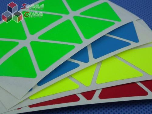 Naklejki Halczuk Stickers Pyraminx Fluo
