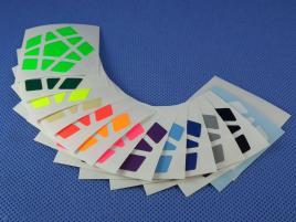 Naklejki Megaminx Halczuk Stickers Fluo