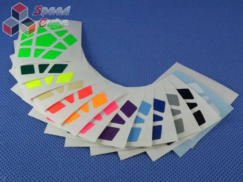 Naklejki Halczuk Stickers Megaminx Fluo