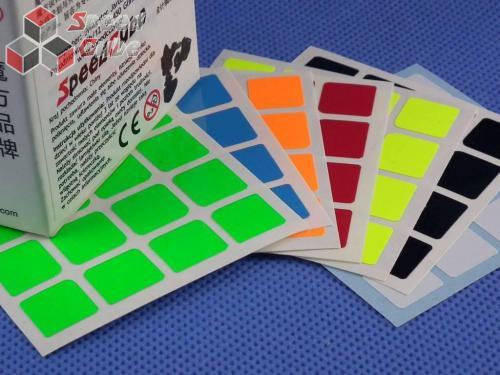 Naklejki Halczuk Stickers AoSu Mini Fluo 4x4x4