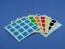 Naklejki 4x4x4 Halczuk Stickers YuXin Half Bright