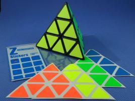 Naklejki Pyraminx Z-Stickers Fluo