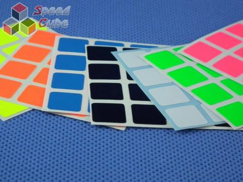 Naklejki 4x4x4 Z-Stickers MoYu Full Bright