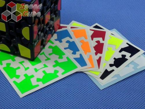 Naklejki Gear cube Halczuk Stickers Fluo