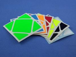 Naklejki Skewb Halczuk Stickers MoYu Fluo