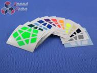 Naklejki Megaminx Halczuk Stickers DaYan Fluo