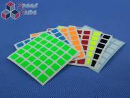 Naklejki 6x6x6 Halczuk Stickers MoYu Fluo
